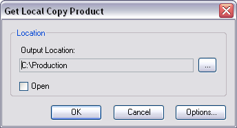 Get Local Copy dialog box when opened for the first time