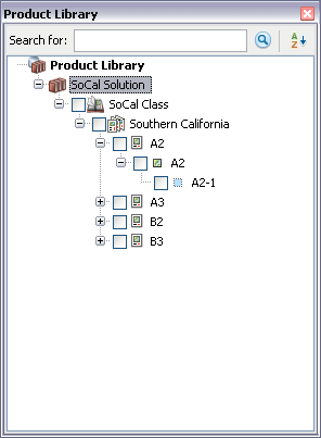 Product library tree