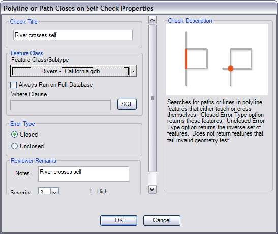 Polyline or Path Closes on Self Check Properties dialog box