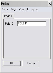 Screen shot showing the Poles Edit form.