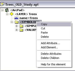 Screen shot showing the Copy function.