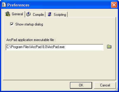 Screen shot of the Preferences dialog box.