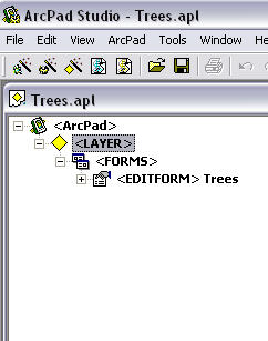 Screen shot showing results in a tree view as a new layer definition file.