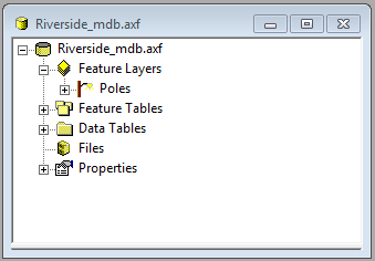 Screen shot showing the Poles layer icon in the tree view.