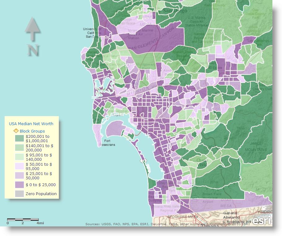 Census Map Income Esri 2010 Census – Income Map