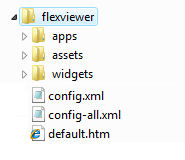 Screen shot showing the Viewer application files.