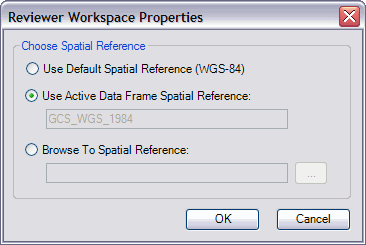 Reviewer Workspace Properties dialog box